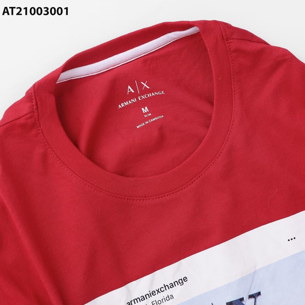 Áo thun cổ tròn graphic armani AT21003001 cổ tròn