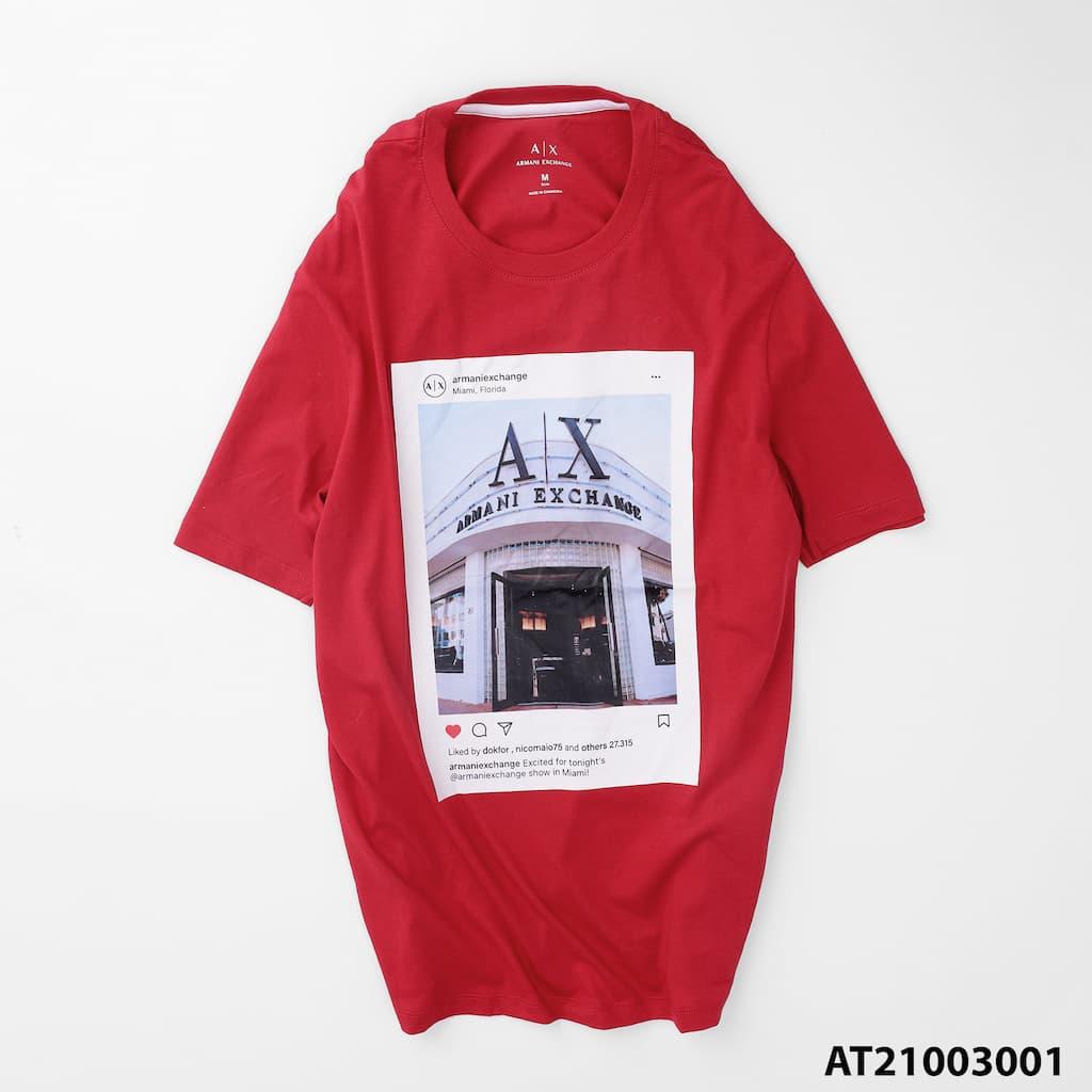 Áo thun cổ tròn graphic armani AT21003001 2