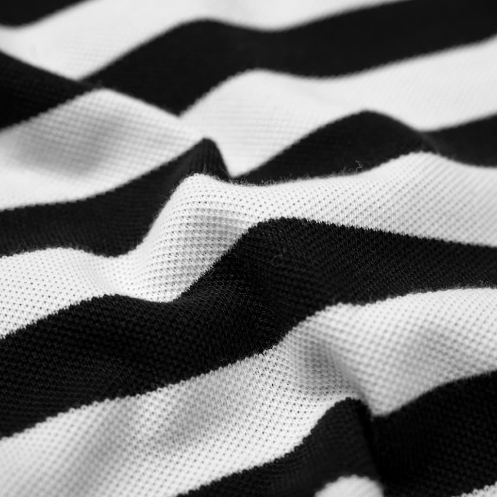 Áo Polo Sọc Ngang Tommy hình chi tiết chất vải 2