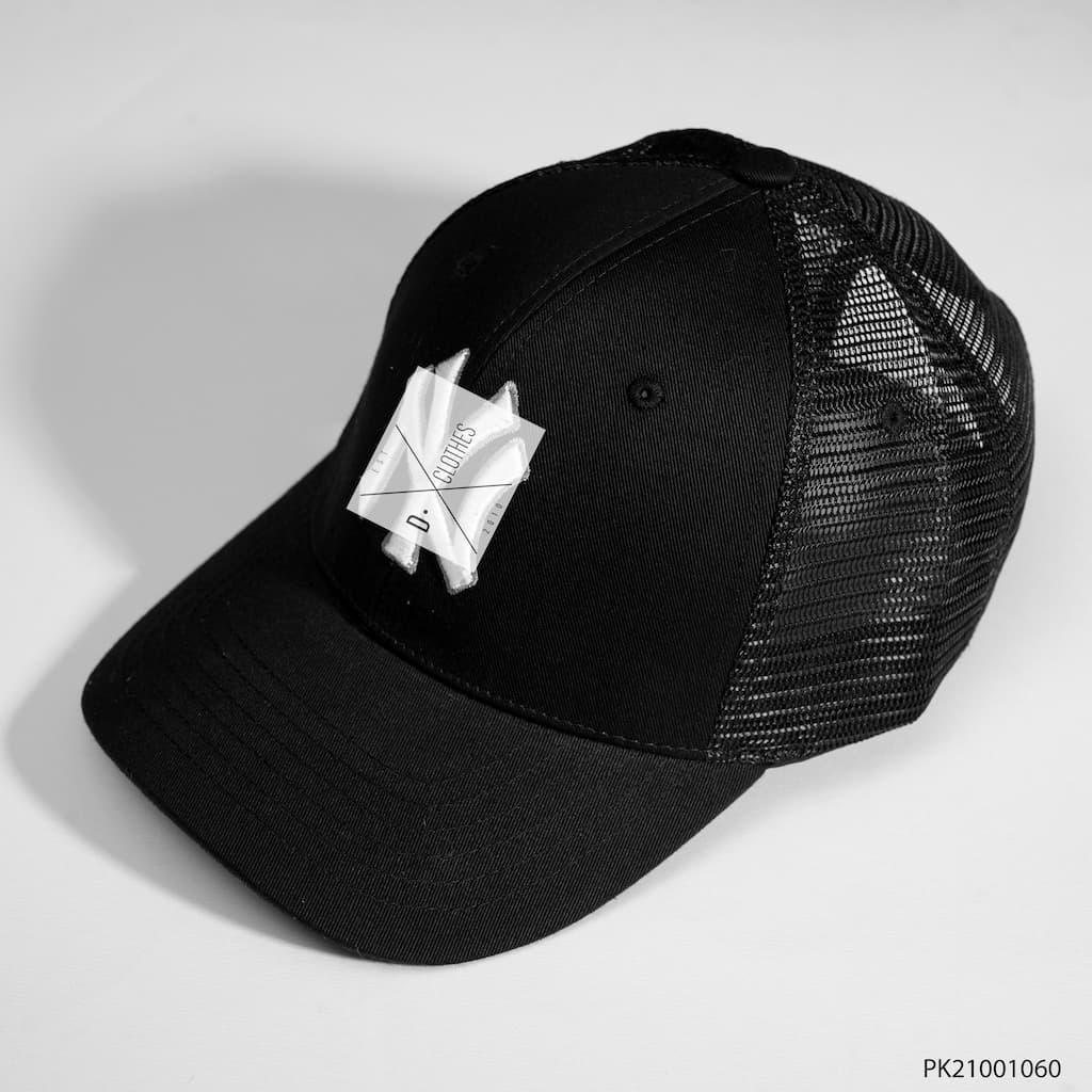 Mũ MLB đen NY trắng