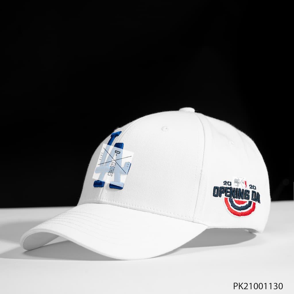 Mũ MLB trắng LA xanh