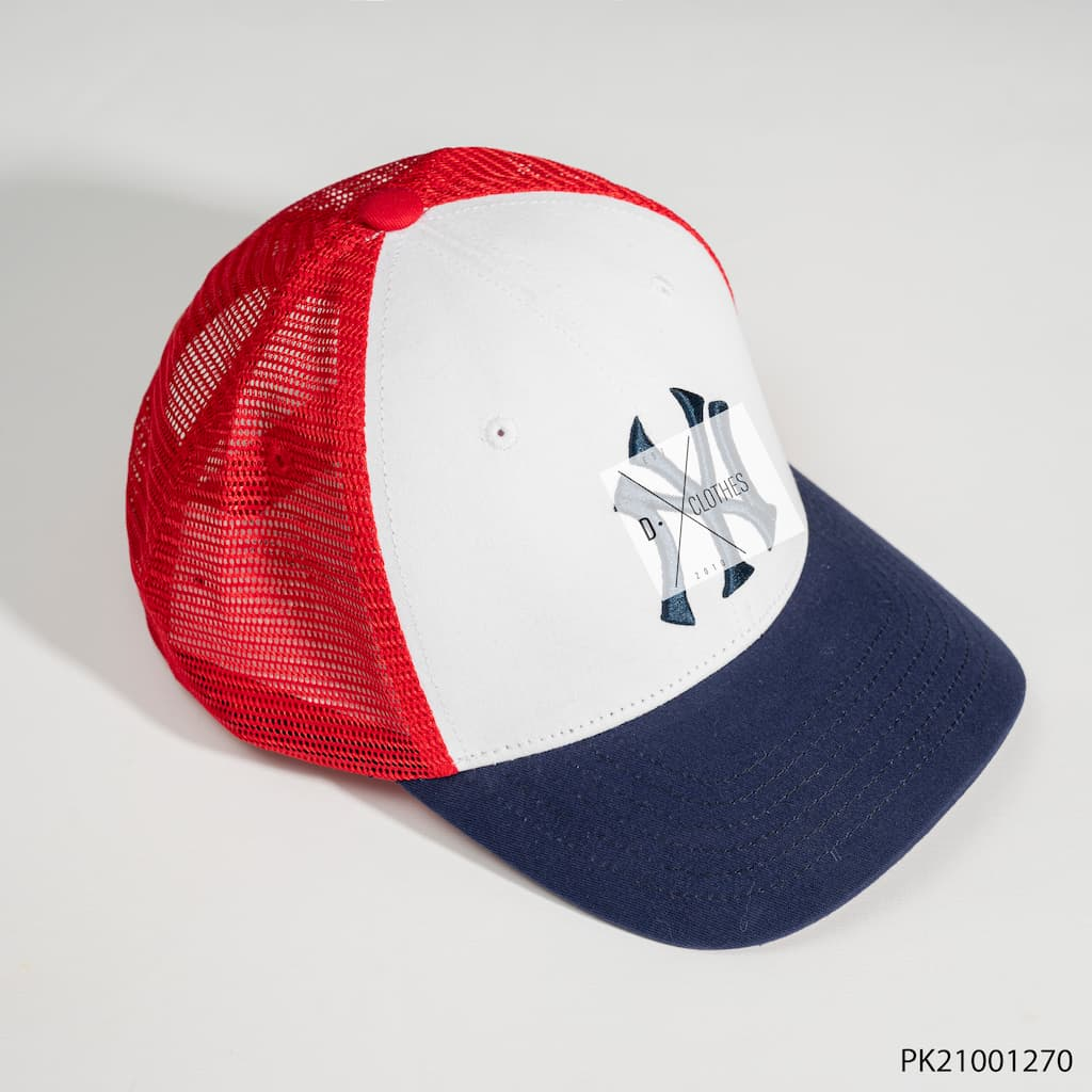 Mũ MLB Đen B Đỏ Lưới