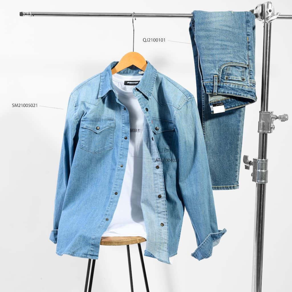 Bộ phối jeans tone sur tone 1