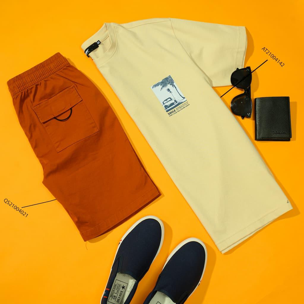 Mix&match áo thun graphic nhí và shorts