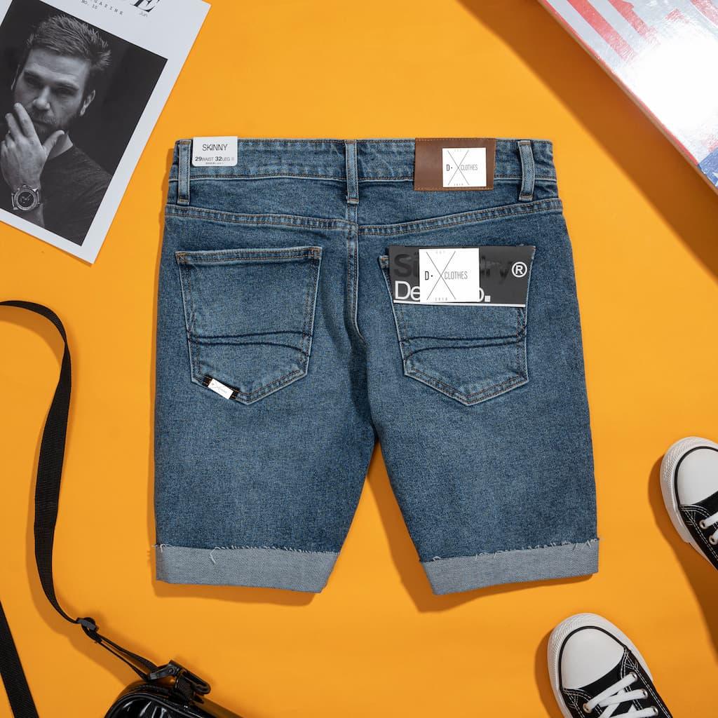 Quần Shorts jeans superdry hình chi tiết  2