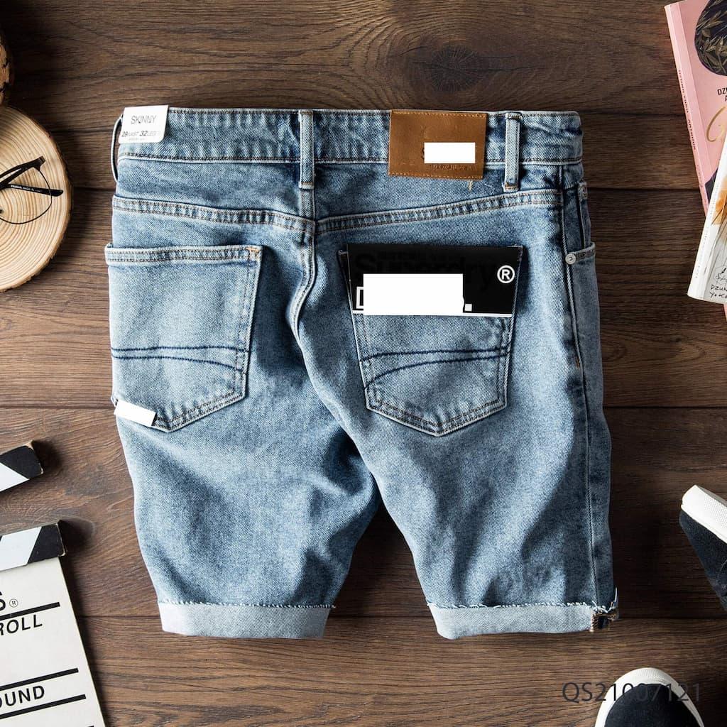 Quần shorts jeans superdry qs210070 mặt sau