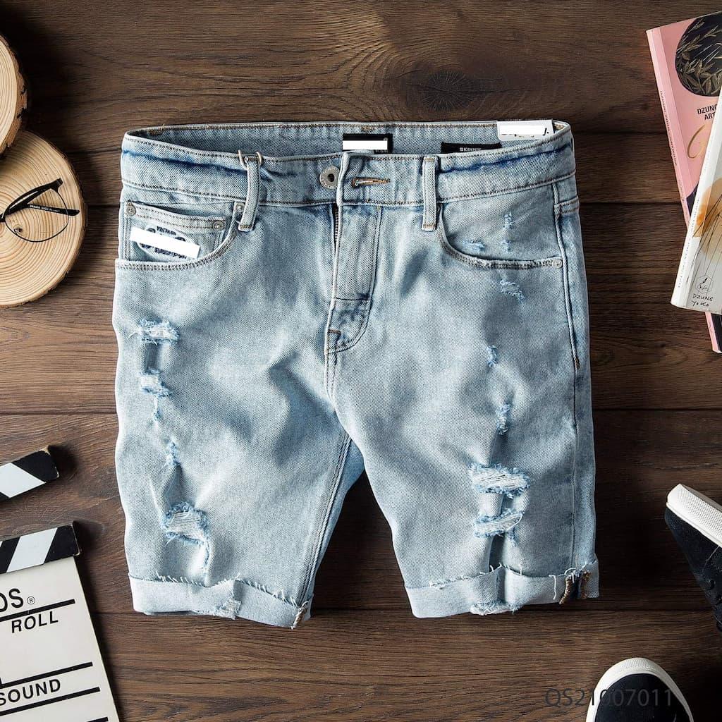 Quần shorts jeans superdry qs210070 4