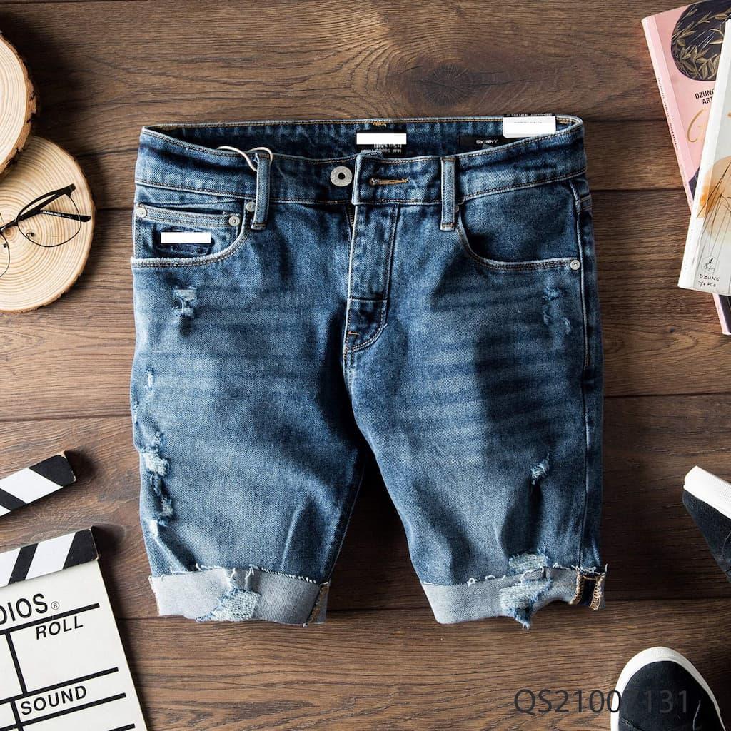 Quần shorts jeans superdry qs210070 1