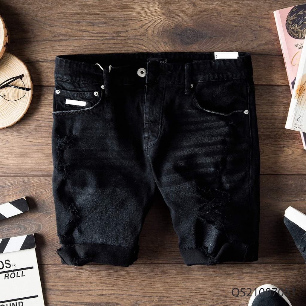 Quần shorts jeans superdry qs210070 2