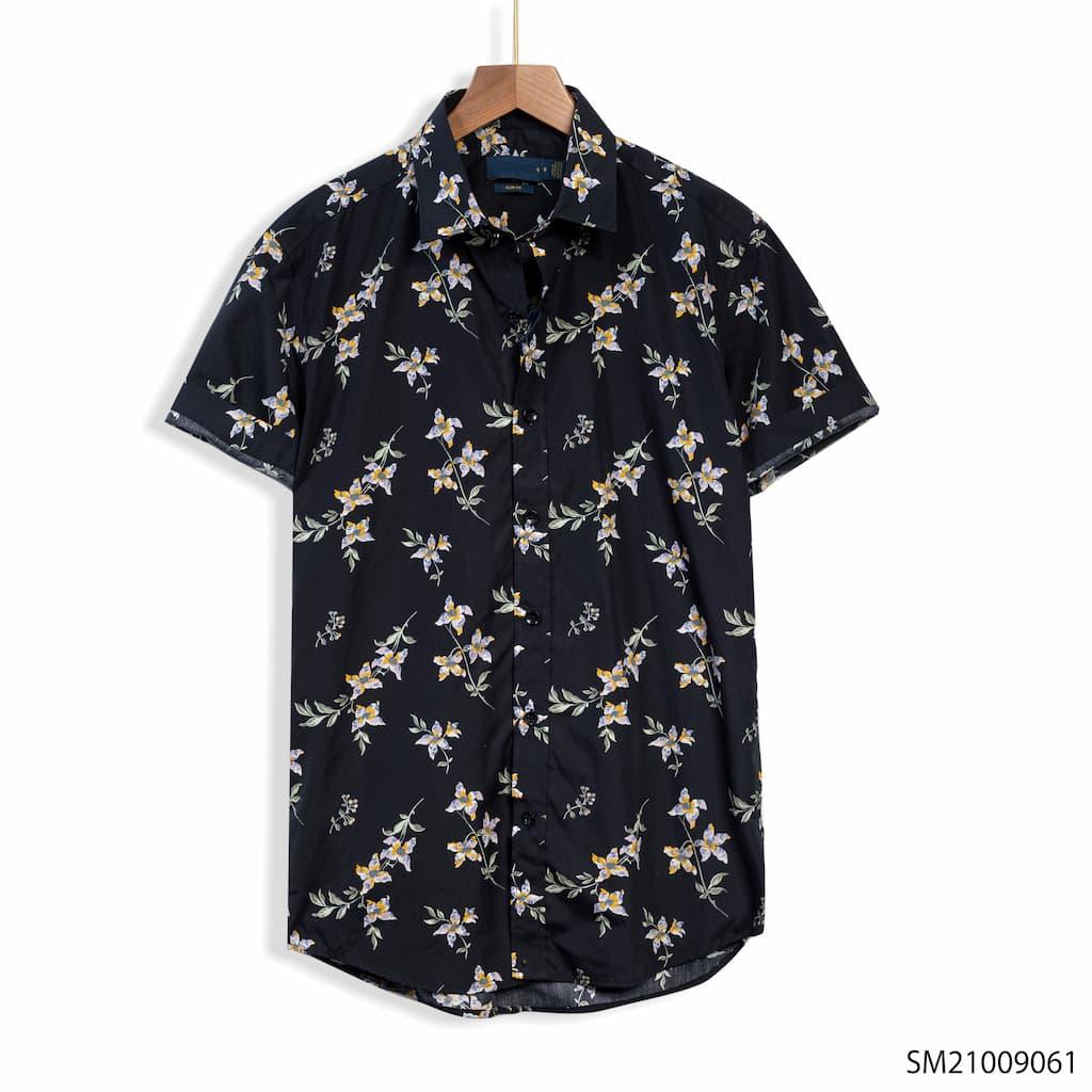Sơ mi Ralph Lauren sm210090 xanh đen hoa
