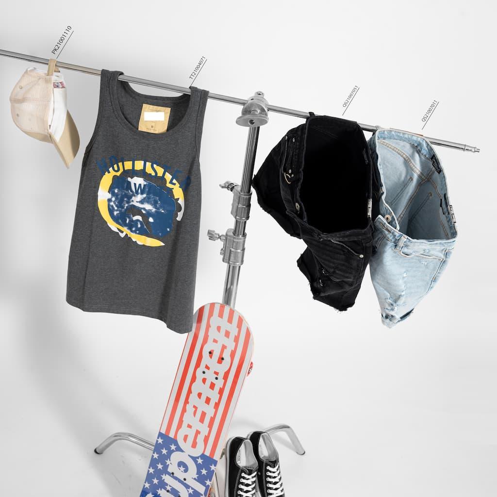 Mix&match áo thun ba lỗ và shorts