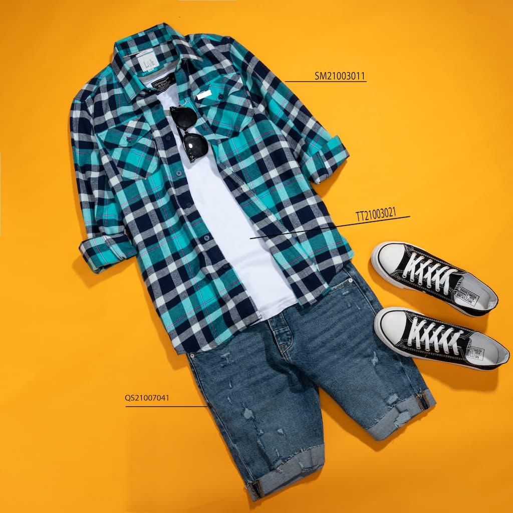 Mix and match layer với shorts